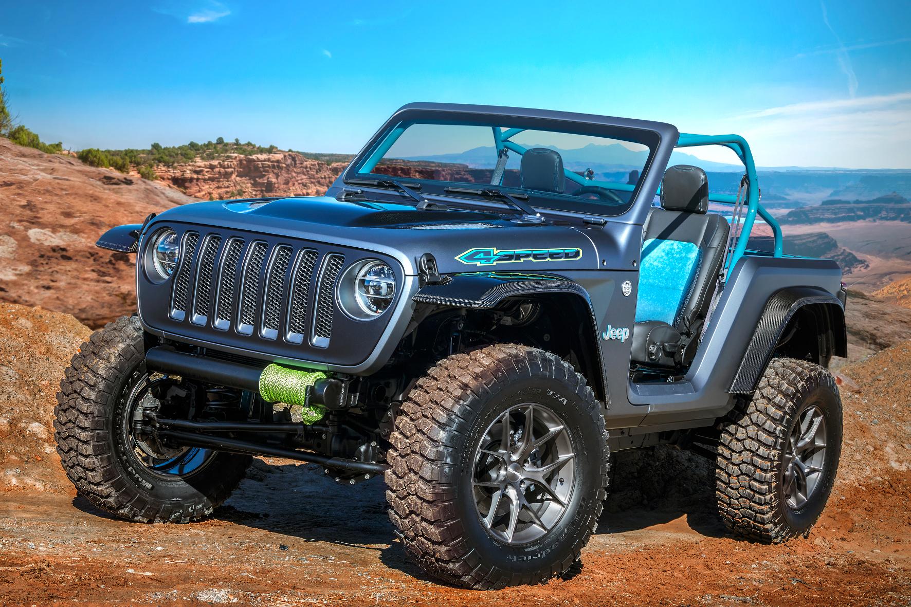 mid Groß-Gerau - Leicht, schnell und wendig: Das Jeep 4SPEED Concept wartet auf seinen Einsatz in Moab. FCA