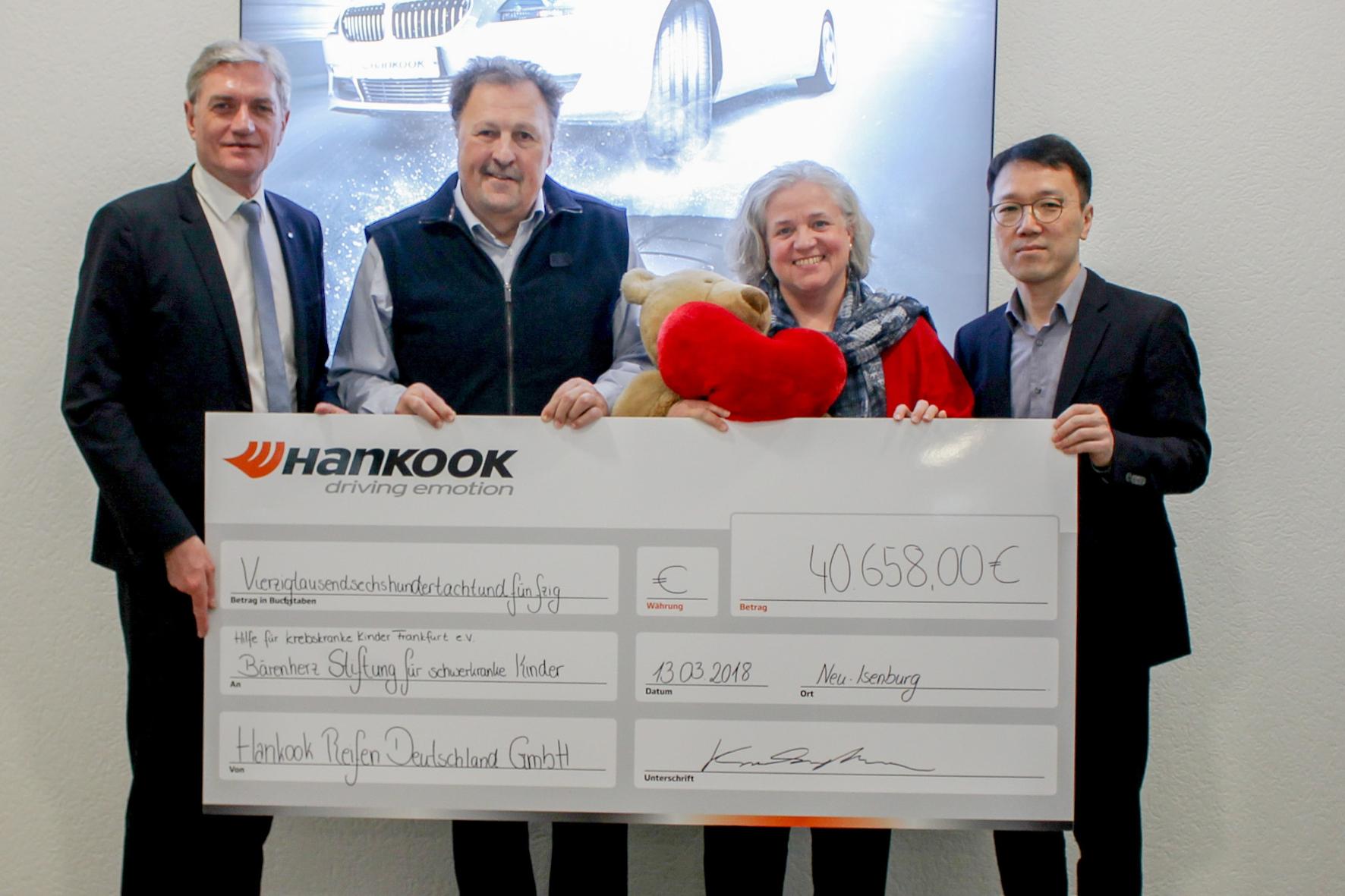 mid Groß-Gerau - Tolle Sache: Mit verschiedenen Aktionen sammelt Reifenhersteller Hankook insgesamt 40.658 Euro für den Verein