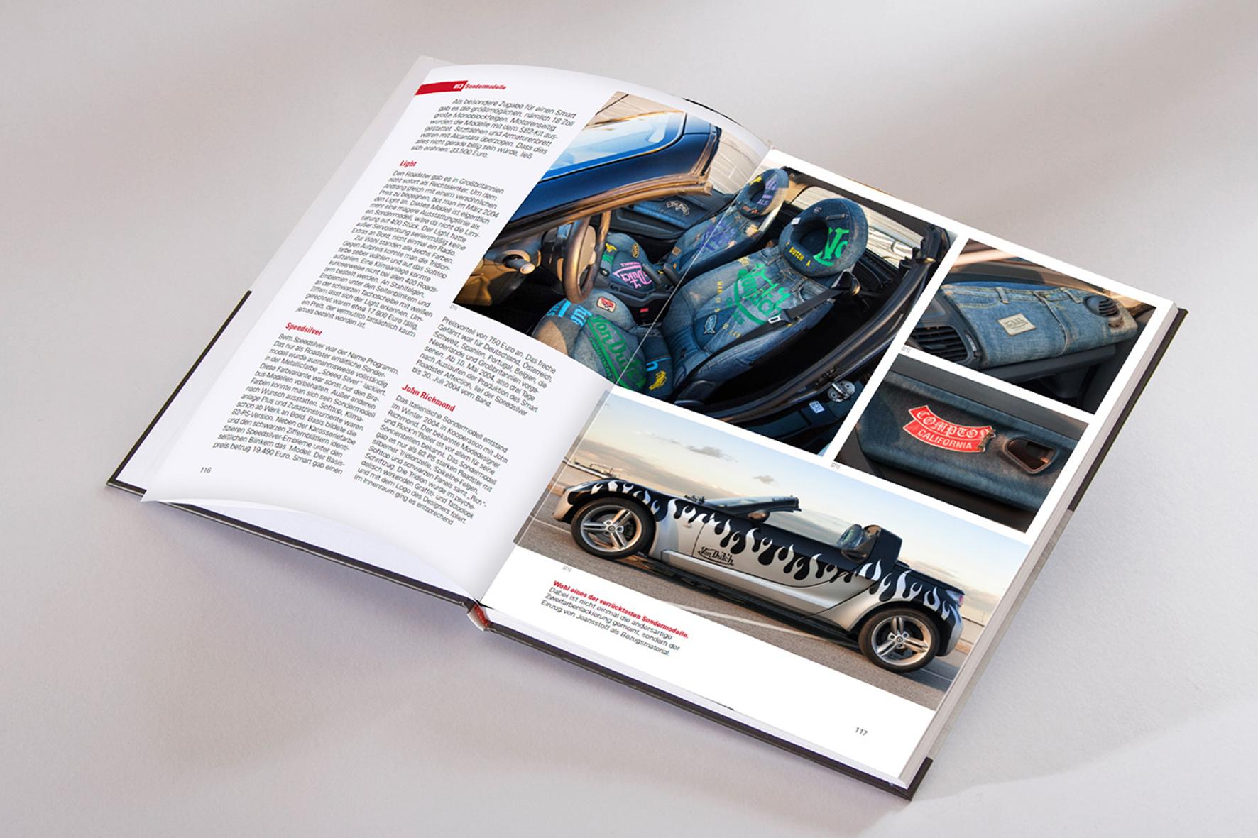 mid Groß-Gerau - Auch sehr ausgefallene Exemplare des Smart Roadster finden in dem Buch ihren Platz. Verlag Hollinek / Reichel