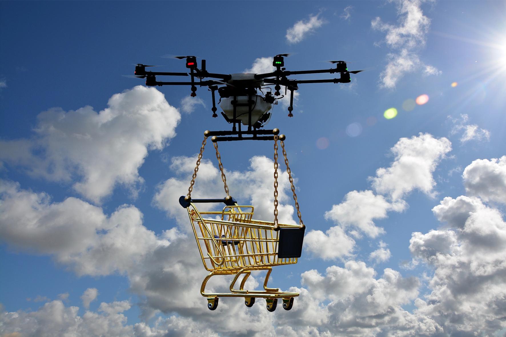 mid Groß-Gerau - Kein Scherz: Drohnen könnten schon bald für uns auf Einkaufs-Tour gehen oder besser gesagt: auf Einkaufs-Flug. geralt / pixabay.com