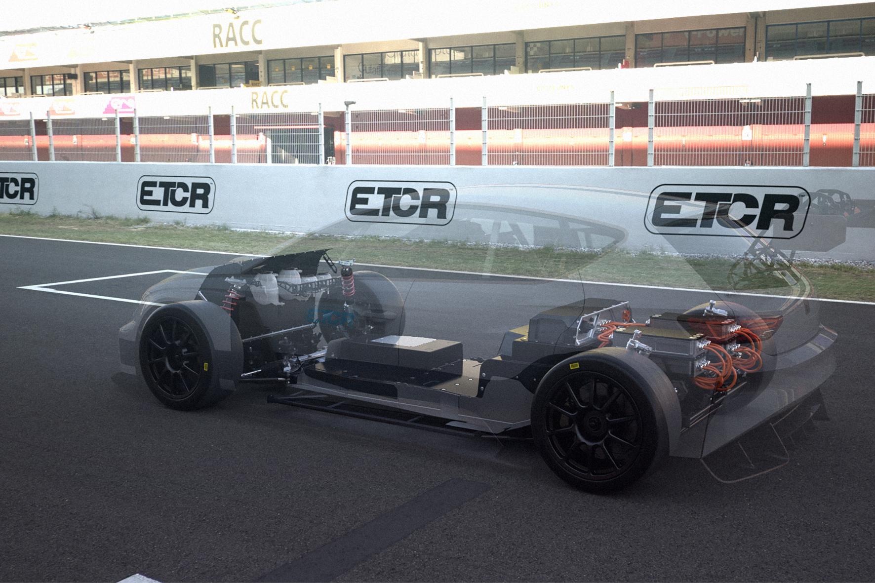 mid Groß-Gerau - Die 3D-Animation ermöglicht einen Röntgenblick ins Innenleben des Cupra e-Racer. Seat