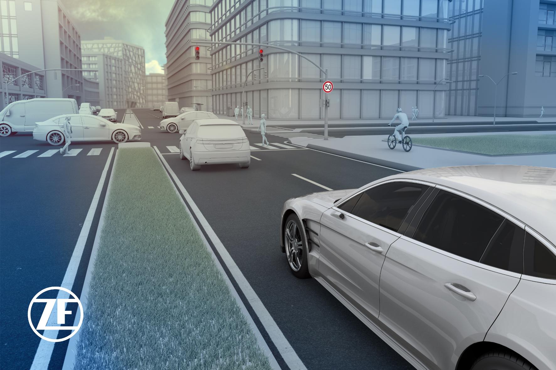mid Groß-Gerau - ZF bietet Lösungen an, um das automatisierte Autofahren sicherer zu machen. ZF