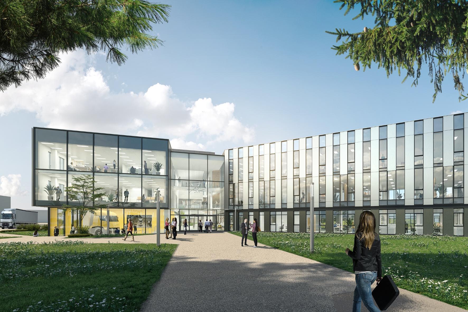 mid Groß-Gerau - Ab 2021 sollen 1.000 Mitarbeiter in einem neuen Forschungs- und Entwicklungszentrum bei Lyon für Renault Trucks arbeiten. Renault Trucks