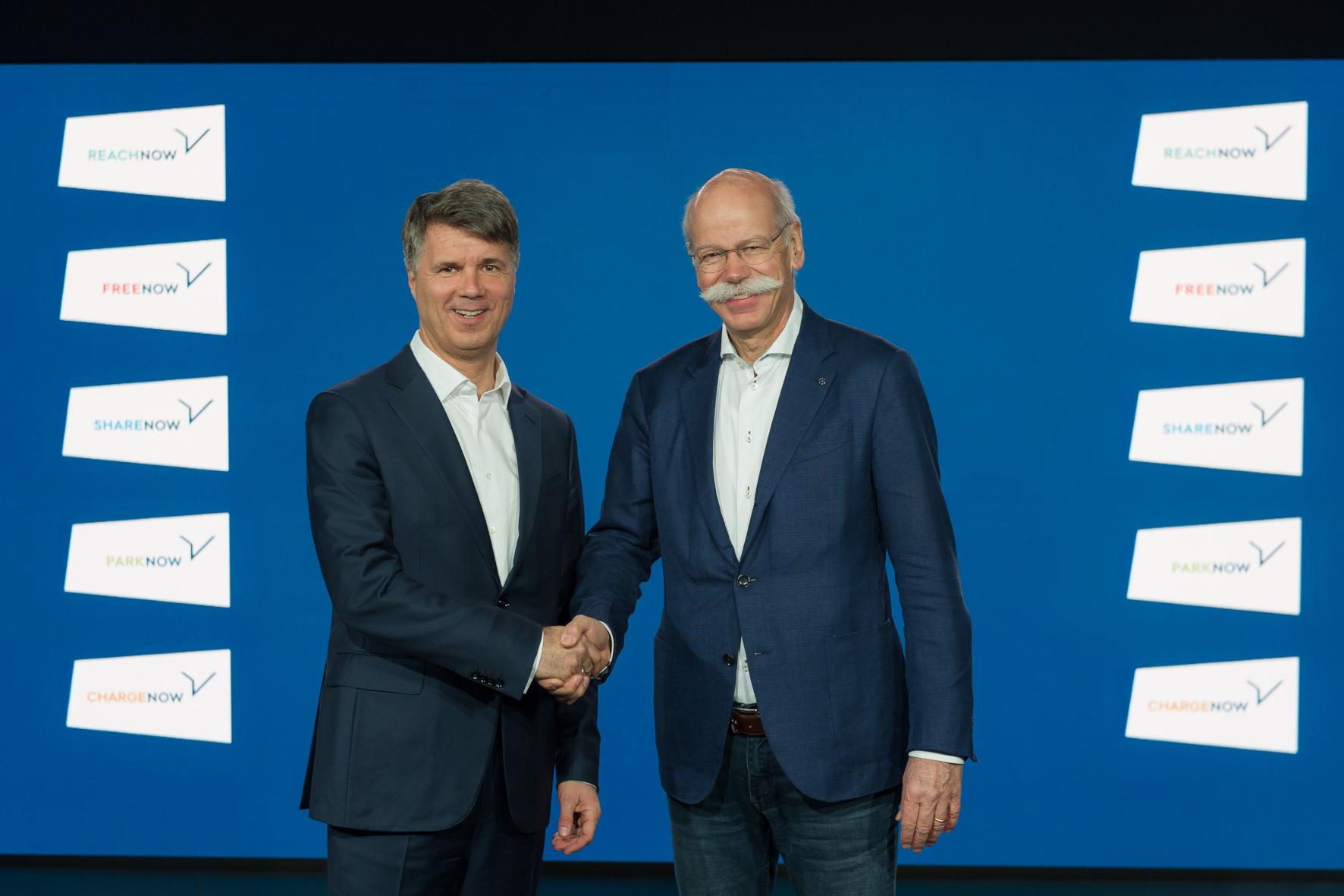mid Groß-Gerau - Arbeiten zusammen: BMW-Chef Harald Krüger (links) und Daimler-Chef Dieter Zetsche. BMW