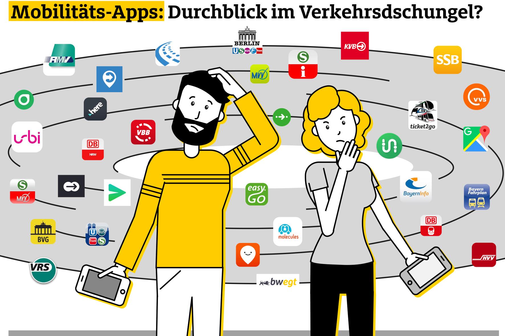 mid Groß-Gerau - Mobilitäts-Apps lassen so manchen Nutzer ratlos zurück. ADAC