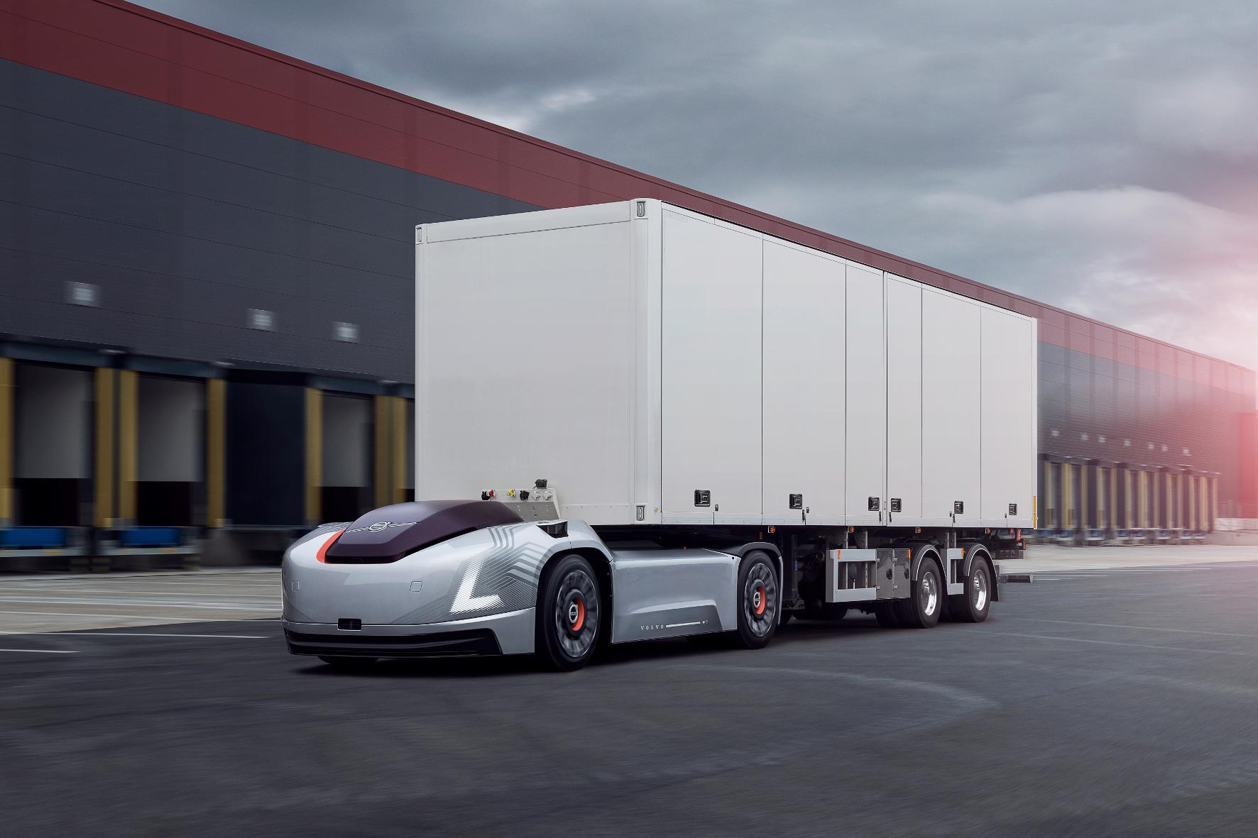 mid Groß-Gerau - Intelligenter Lagerarbeiter: Das Konzeptfahrzeug Vera von Volvo. Volvo Trucks