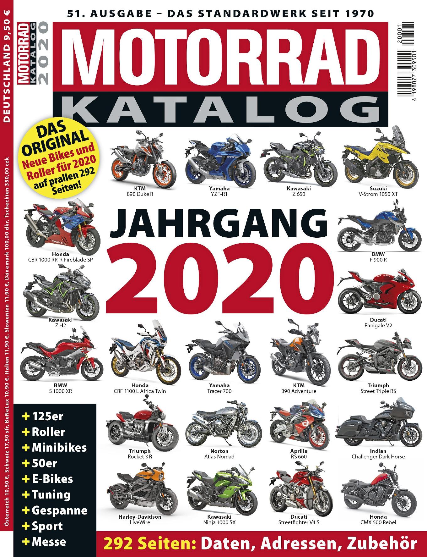 mid Groß-Gerau - Der Motorrad Katalog 2020 listet auf 292 Seiten alles auf, was für Biker und Rollerfahrer interessant ist. Motor Presse Stuttgart