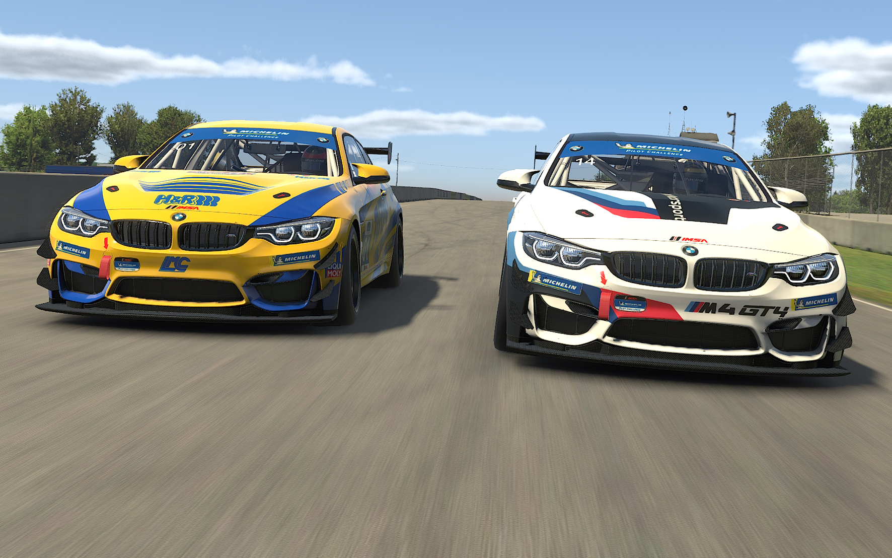 mid Groß-Gerau - Originalgetreu: die virtuellen Sportwagen BMW M4 GT4 iRacing in Aktion. BMW